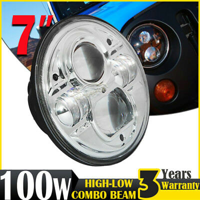7inch 100W H4 CREE LED Driving Light Hi-Lo Beam Headlight Offroad Round For Jeep