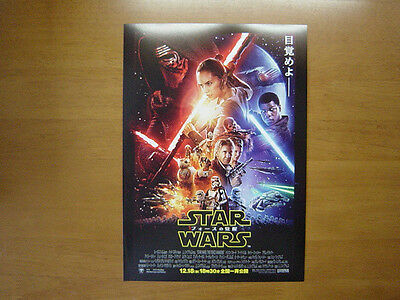 Star Wars: The Force Awakens MOVIE FLYER Mini Poster Chirashi Japanese