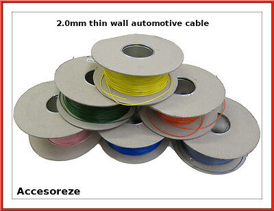 2.0mm sq Thinwall Thin wall Automotive Loom Cable Wire 25A, per 5 metres (multi)
