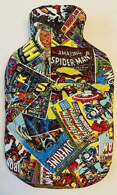 Marvel Super Heroes ~ Hot Water Bottle Cover ~ Free Uk Postage