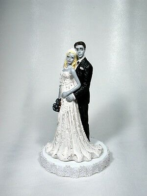 Zombies Bride and Groom Wedding Cake Topper 49 ZO