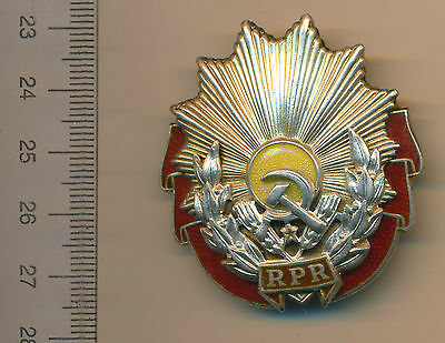 Romanian Order Romania Communism Medal Order of Labor RPR 1st class FIRST TYPE