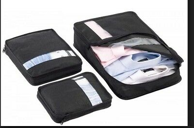 NEW, 3 Pcs Casetidy Packing Cubes Organizer & Other Travel Necessities in Black
