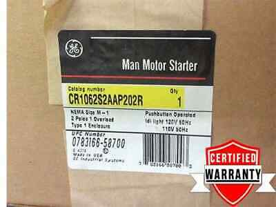 GE Manual Motor Starter CR1062S2AAP202R Size 1 Type 1 NIB 240v 2p 2 yr warranty