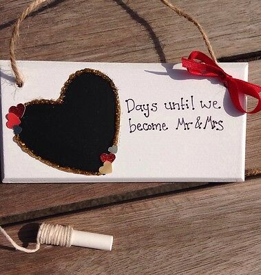 Personalised  Wedding countdown  sign/ plaque/chalkboard/ Engagement gift