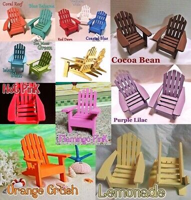 MINIATURE ADIRONDACK CHAIR Single CHOOSE COLOR HAND PAINTED WOOD forFAIRY GARDEN