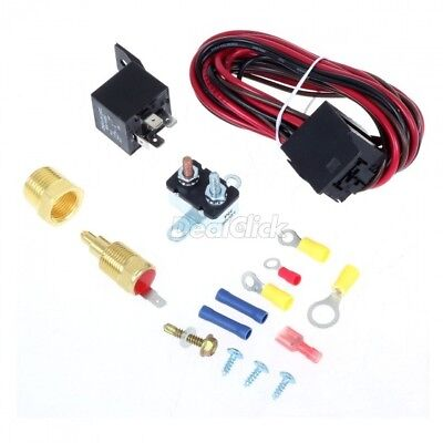 Electric Radiator Engine Fan Thermostat Temperature Switch Relay Kit 200 Degree