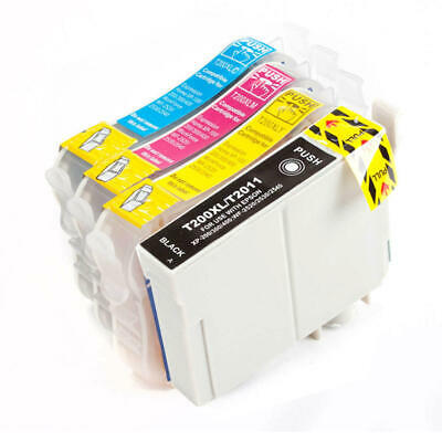 4PK Ink for Epson T220XL XP-320 XP-420 XP-424 WF-2630 WF-2650 WF-2660