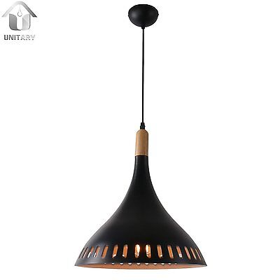 Unitary Brand Antique Black Metal Round Hollow Out Shade Large Pendant light wit