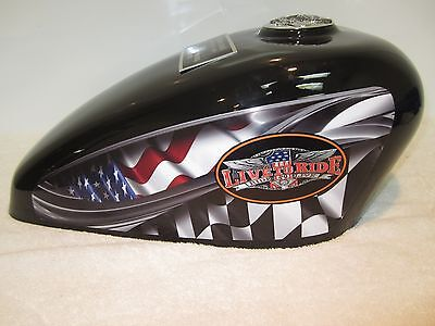 310 Black Live to Ride Adult Cremation Motorcycle Gas Tank Urn