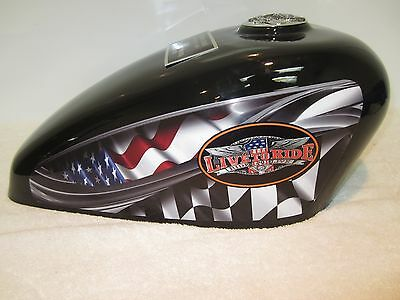 Black Live to Ride Adult Cremation Motorcycle Gas Tank Urn