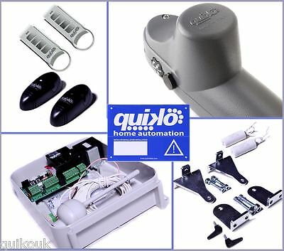 Quiko Premium Heavy-Duty Electric Gate Opener Kit Dual Rams - 2 Remotes 2Yr Warr