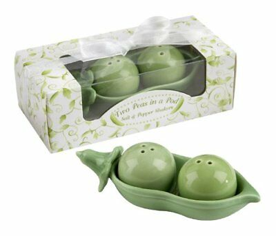 Two Peas in a Pod Ceramic Salt & Pepper Shaker NEW