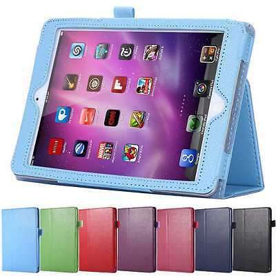 "7.9""  9.7"" Apple iPad Air Mini 1 / 2 / 3 4 Pouch Folio Leather Case Cover Stand"