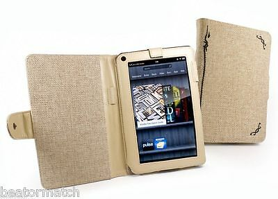50 x JOB LOT Tuff-Luv Natural Hemp Fabric Case Cover Amazon Kindle Fire Tablet