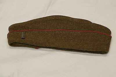WW1 US AEF Overseas Artillery Officers Hat with Insignia Wedge Cap
