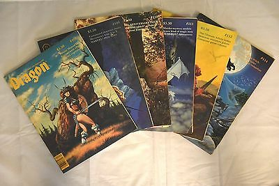 Large lot of 66 Dragon Magazine TSR Dungeons and Dragons D&D