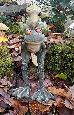 Garden Frog Stone Effect Patio Statue Ornament Indoor Outdoor Gift
