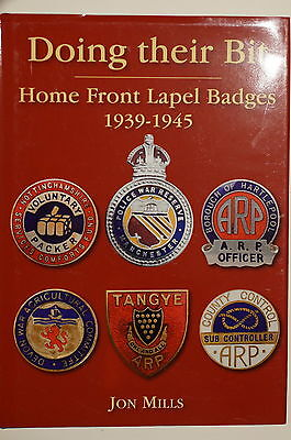 WW2 British Doing Their Bit Home Front Lapel Badges 1939-1945 Reference Book