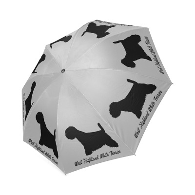 New Black WESTIE Dog Puppy Collection Auto Foldable Polyester UMBRELLA