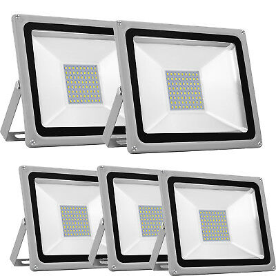 5X 50W LED SMD AU Plug 220V-240V Flood Light Outdoor Floodlight Cool White IP65