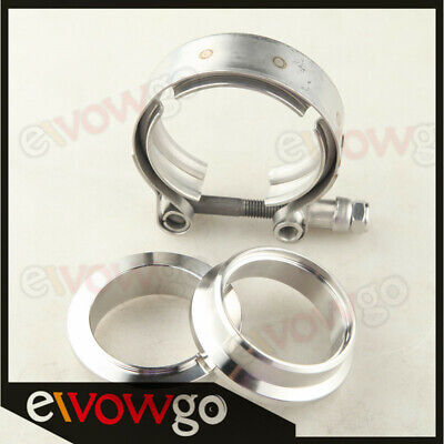 "1.5"" inch Self Aligning Male/Female V-Band Clamp CNC Stainless Steel Flange Kit"