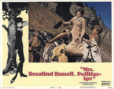 Mrs. Pollifax-Spy 1971 Original Movie Poster Rosalind Russell Adventure Comedy