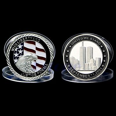 9/11 Silver  Plated Tribute Coin United We Stand Commemorative Coin Collection