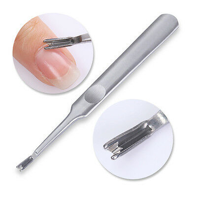 Nail Art Stainless Steel Cuticle Pusher Remover Manicure Pedicure Nail Tool
