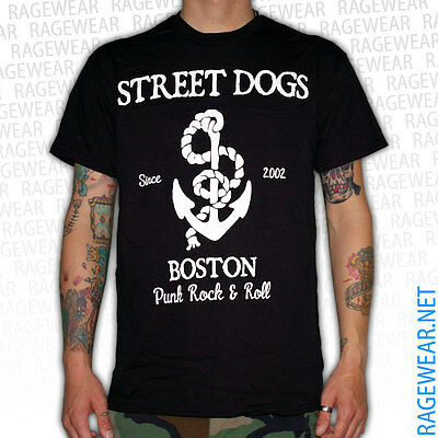 "STREET DOGS ""ANCHOR"" T-Shirt, black Rancid Dropkick Murphys Punk"