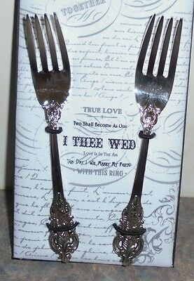 - New - Mr & Mrs - Silver-plated Cake Forks - Wedding