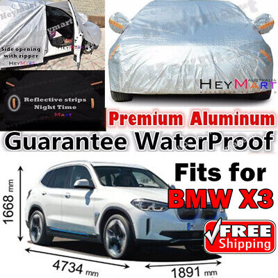 BMW X3 X4 car cover Double thicker waterproof Aluminum UVprotect X3 X4 car cover