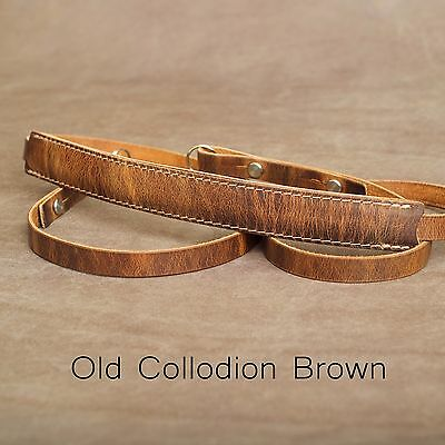 "1901 ""Steichen"" CUSTOM LENGTH Leather Camera Strap - Old Collodion Brown"