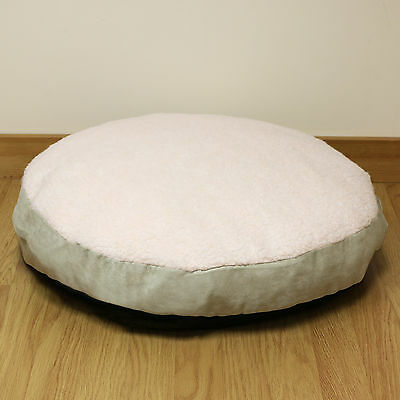 Small Circular Fleece Pet Dog Bed/Puppy/Cat/Round/Cushion/Pillow/Soft/Cosy 54cm
