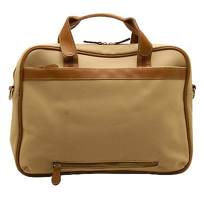 cab6dc1123c6 Home Works - Cream Canvas Laptop Briefcase Style Bag with Shoulder Strap