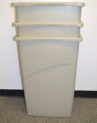 ( 3 Pack ) Rubbermaid Slim Jim Trash Cans - 23 Gal, Biege **free Shipping**