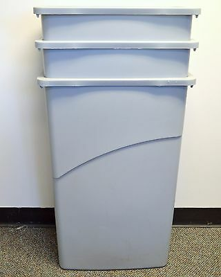 ( 3 Pack ) Rubbermaid Slim Jim Trash Cans - 23 Gal, Gray **free Shipping**