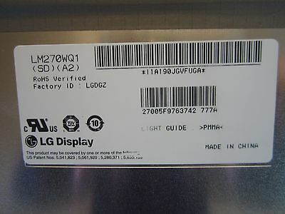 "Genuine Apple iMac 27"" LCD Screen LM270WQ1(SD)(A2) 661-5527 661-5312 8P0 Grade B"