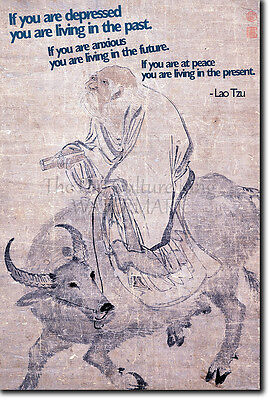 LAO TZU (Laozi) QUOTE POSTER - IF YOU ARE DEPRESSED - MOTIVATION INSPIRATION