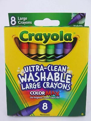Crayola Ultra-Clean Large Washable Crayon ColorMax 8Pk – 52 3280*