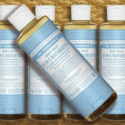 Dr. Bronner's Magic Soap Neutral-Mild Baby 240ml Flüssigseife FairTrade Bio veg