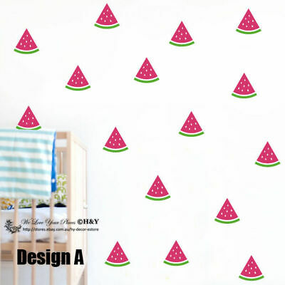 Set of 36 Pcs Watermelon Removable Wall Stickers Baby Kids Cot Decor Art Mural