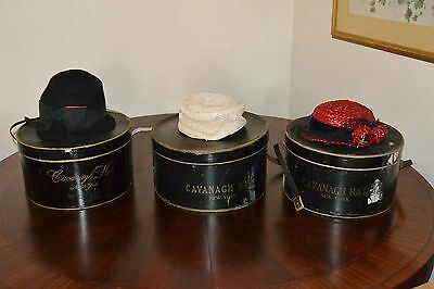 Vintage Hats with Authentic Cavanagh Hat Boxes