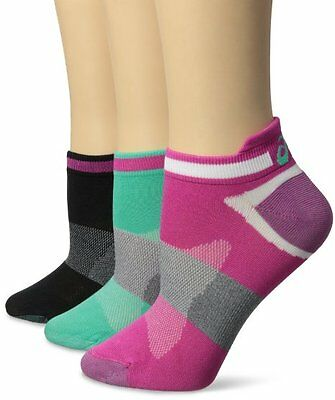 ASICS Women's Quick Lyte Single Tab Running Socks - 3 Pack - Ultra Pink Assorted