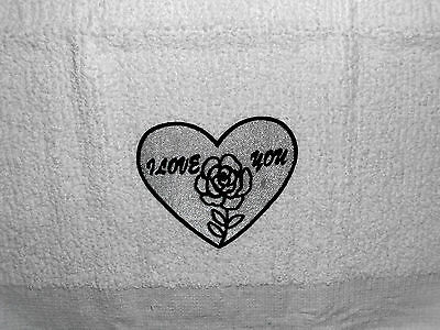 Kitchen Dish Towels Crochet Tops Listing T961 Heart Valentine's Day I love You