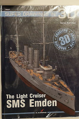WW1 Imperial German Light Cruiser SMS Emden Super Drawings 3D Reference Book