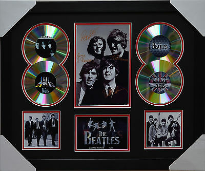 The Beatles Memorabilia Framed Signed Limited Edition 4Cd.