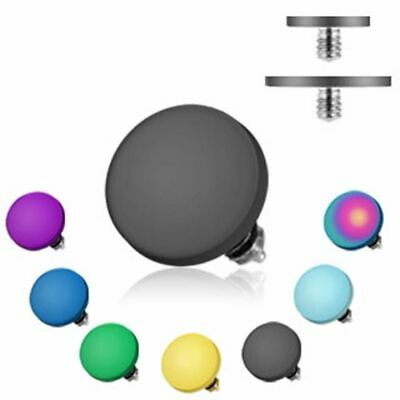 Dermal Inset Titan Flat Disc 1,2mm 6 colours or Set PIERCINGS from ALLFORYOU