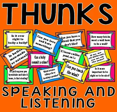 *cd* Thunks Posters Speaking And Listening Teaching Resources Ks 1-4