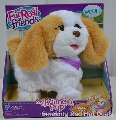 Furreal Friends My Bouncin Pup Bounces Spins Barks Puppy Dog Kids Toy Xmas New